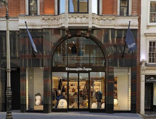 Entrance Zegna Boutique – London, New Bond Street